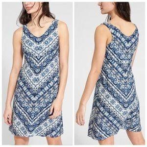 Athleta Blue Printed Batik Santorini Dress 3.0
